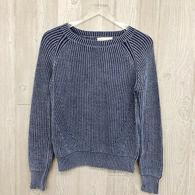 Philosophy Republic Clothing Women's XS Sweater Cotton Heathered Blue Euc