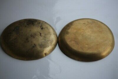 Antique French Pair Brass Balance Scales Pans Bowls 15cm / 5.9inch 6.2oz