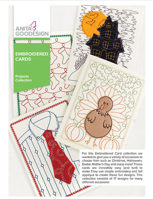 Anita Goodesign Machine Embroidery Patterns - Embroidered Cards