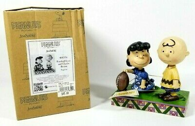 Jim Shore Peanuts /'Never Give Up/' Football Lucy /& Charlie Brown 4042376