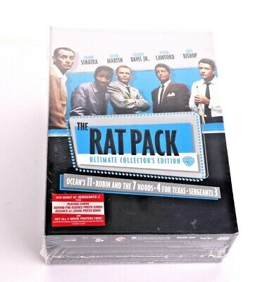 The Rat Pack Ultimate Collectors Edition (DVD, 2008, 3-Disc Set) Brand New
