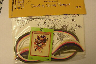 "Quill Art Quilling Kit ""Touch Of Spring Bouquet"" - Vintage Craft Kit"