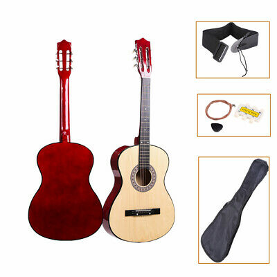 38'' Acoustic Guitar Steel Strings Steel-stringed with Tuner Pick Guitar Case