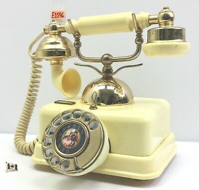 Vintage French Style Ornate Rotary Dial Gold Telephone E1546