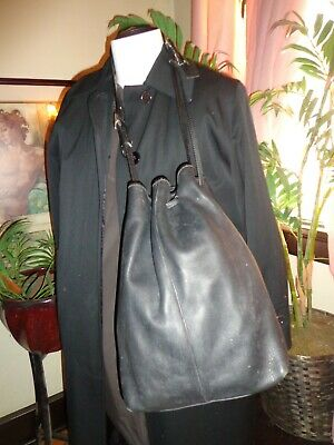 Coach Authentic Vintage Bucket Black Leather extra large bag SPECIAL SALE 179.95