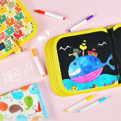 AU Portable Painting Book Graffiti Board Writing Pad Erasable Draw Board Kid New