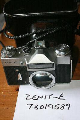 Zenit / Zenith E 35mm SLR Camera Body M42 Lens Mount - Working Well, With Case