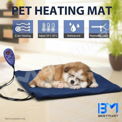 50x50cm Electric Heated Heat Cat Pet Dog Pad Mat Thermal Protection Waterproof