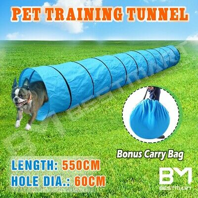 Long Waterproof Pet Dog Agility Training Exercise Tunnel Chute & Carry Bag 5.5M