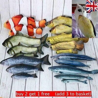 Funny Fish Shape Cat Playing Toy Realistic Pet Interactive Kitten Playing Catnip