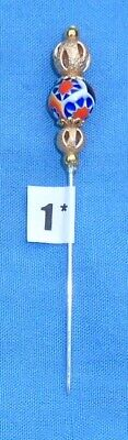 1* Pin Divider For Lacemaking Vintage Moretti Millifiore Bead  Nice Sharp Point