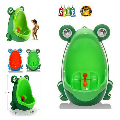 Cute Frog Shaped Kid Baby Potty Toilet Training Urinal Boys Pee Trainer Bathroom