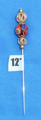 12* Pin Divider For Lacemaking Vintage Moretti Millifiore Bead Nice Sharp Point