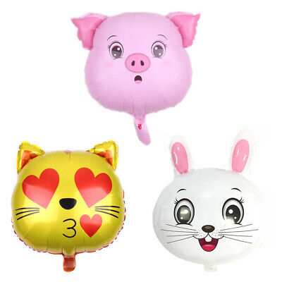 1pc Animal Head Foil Balloons Animal Theme Party Decor Children's Gay GiftsSC