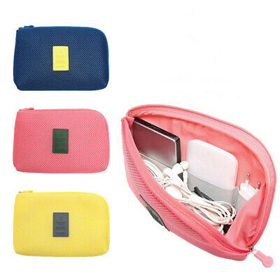 1X Travel Digital USB Charger Cable Earphone Case Makeup Cosmetic Organizer BSC