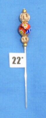 22* Pin Divider For Lacemaking Vintage Moretti Millifiore Bead Nice Sharp Point