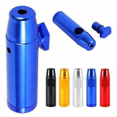 10PCS Snuff Bullet Bottle Metal Rocket Powder Snorter Snuffer Vial Tube