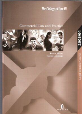 Commercial Law and Practice (LPC Resource Manuals),T. Adams, Alex Longshaw
