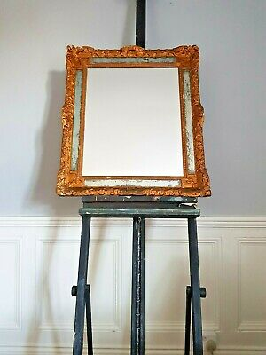 Gold Gilt Florentine Ornate Antique Mirror / Patina / 19th Century / Stunning