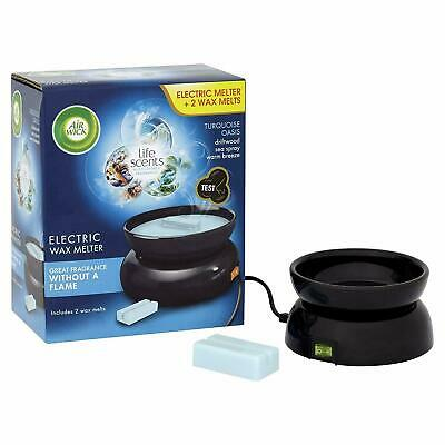Air Wick Wax Melt Plug In Electric Burner With 2 Fantastic Melts TURQUOISE OASIS
