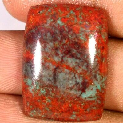 100% Natural Sonora Sunrise Chrysocolla Cushion Cabochon 20 X 28 X 05mm 32.40Cts