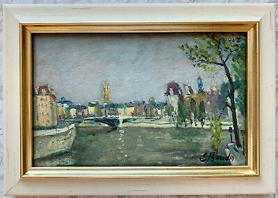 Eugène Boudin (1824-1898) SIGNED FRENCH IMPRESSIONIST OIL PAINTING PARIS VIEW