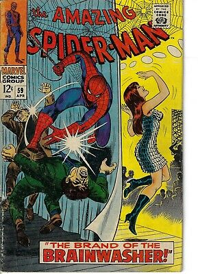 Amazing Spider-Man 59 1st Mary Jane Cover VG+ 1968 Glossy Classic Romita Cover