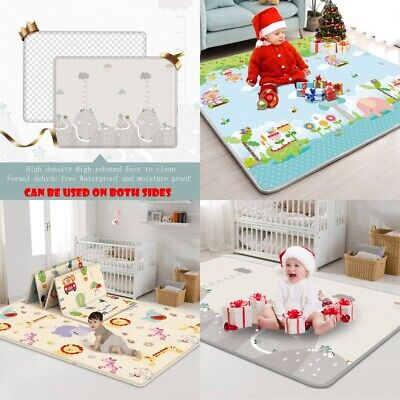 2m*1.8m Soft Baby Play Mat Infant Thick Cotton Cushion Kids Floor Rug Crawling A