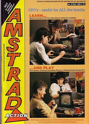 Amstrad Action Magazine - No. 32 - May 1988 - Excellent - Bagged
