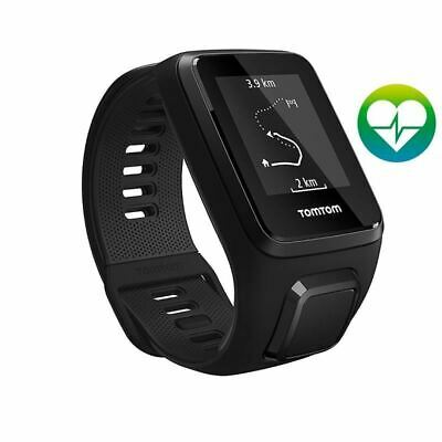 TomTom Spark 3 Cardio - Black - Large - GPS Multisport Fitness Running Watch (A)