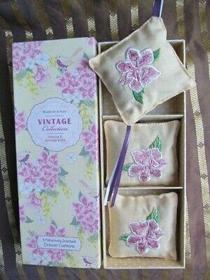 Heathcote & Ivory Drawer Cushions Mimosa & Pomegranate Scented Unused Boxed
