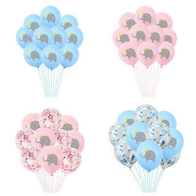 10pcs 12inch Cartoon Elephant Latex Balloons Birthday Party Decor Kids ToysSC