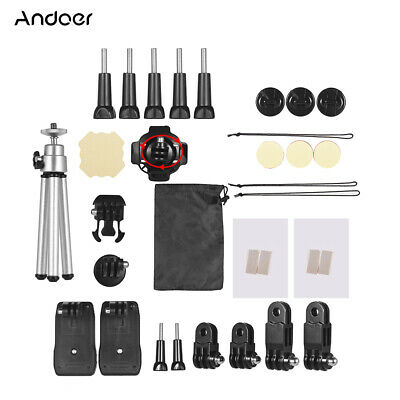 Andoer 32-In-1 Basic Common Action Camera Accessories Kit for GoPro hero D8D2