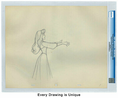 (1959) Disney Original Production Drawings Sleeping Beauty CGC Genuine SKU53210