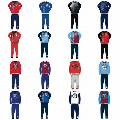 Boys Official Kids Children Child Toddler Football Pyjamas Pjs Set Age 4-12 Yrs