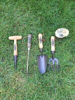 4 Garden / Allotment  Hand Tools Spear & Jackson Onion hoe, Dibber, Fork, Trowl
