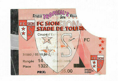 Ticket 1996/97 European Cup Winners Cup - SION v. LIVERPOOL
