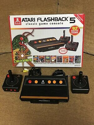 Atari Flashback 5 Classic Game Console 92 Built-In Games in Box