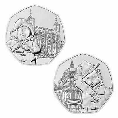 2019 50p COINS PADDINGTON ST PAULS CATHEDRAL + TOWER OF LONDON from sealed bags