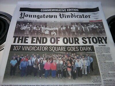Youngstown Vindicator Final Edition Newspaper August 31 2019 Commemorative Issue