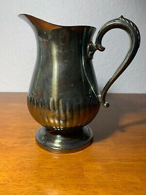 Vintage Towle Silver Plate Water Pitcher 5881 With Ice Lip
