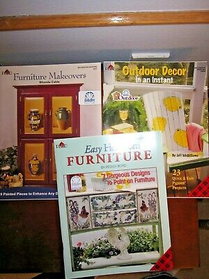Plaid Decorative Painting Booklets (3) - Furniture Indoor and Outdoor NEW!