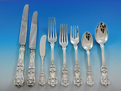 English King by Tiffany & Co Sterling Silver Flatware Set Service 101 pcs Dinner