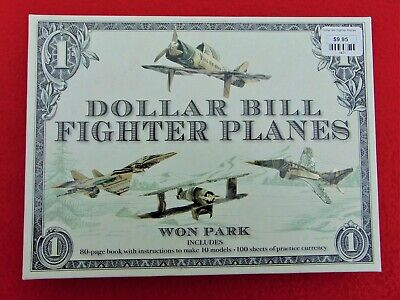 Dollar Bill Fighter Planes Origami Kit ~ Book & Practice Currency