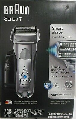 Series 7 7898cc Wet & Dry shaver with Clean & Charge station and travel pouch