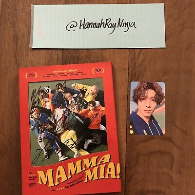SF9 - Mamma Mia! 4th Mini Album - CD+Booklet+Photo Card - Signed/Autographed