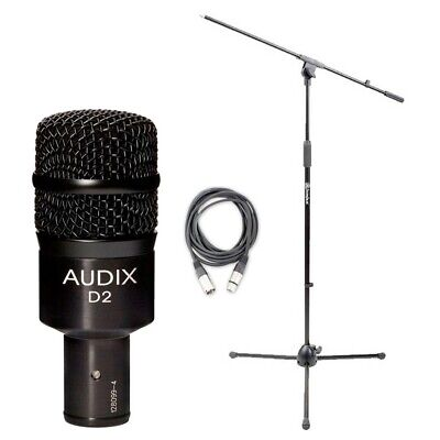 Audix D2 w/ 20ft XLR Cable and Boom Stand NEW BUNDLE