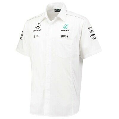 SHIRT Mercedes AMG Petronas Hamilton Men Teamshirt Formula One 1 F1 WHT US