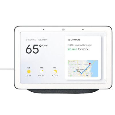 Google Home Hub with Google Assistant Charcoal GA00515-US