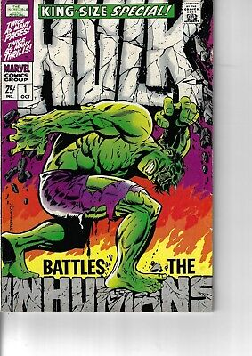 Hulk King Size Special 1 VG/F 1968 Glossy Steranko Classic Cover Double Size
